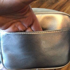 Nine West Bags - Nine West silver Metallic cross body purse NWT